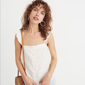Madewell ruffle strap camisole